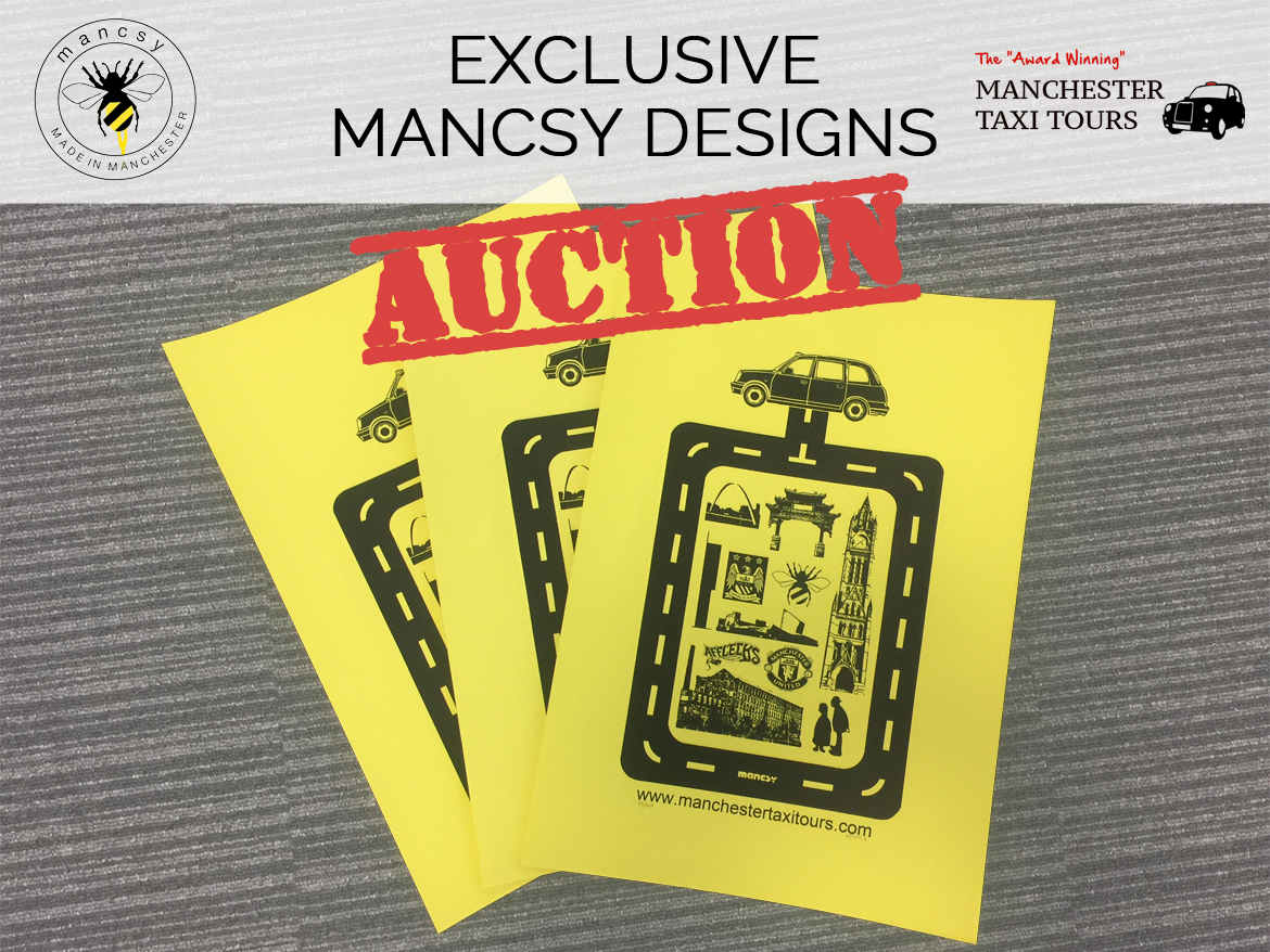 Exclusive Mancsy Designs Manchester Taxi Tours Auction