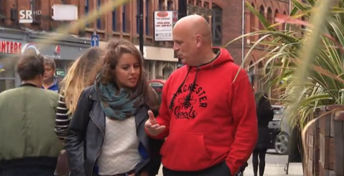 Watch: The latest international TV appearance of Manchester Taxi Tours' John Consterdine